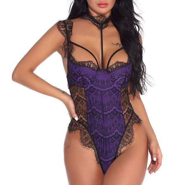 Fashion Women Teddies Sexy Lace Lingerie Bodysuit Teddy Jumpsuit Underwire Underwear Solid Seamless Soft Bodysuits Latex