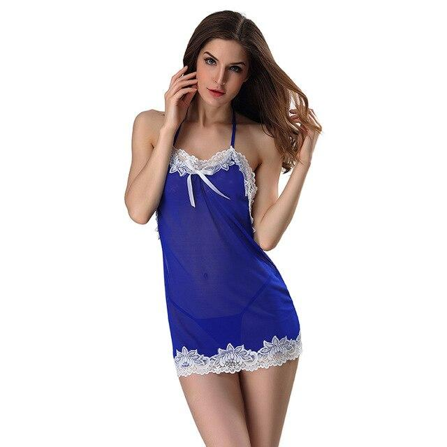 Sexy Plus size Babydoll Lingerie Hot Erotic Lace Women Sleepwear Nightwear Dress Porn Clothing