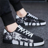 LeiShen spring and autumn men shoes fashion wild men casual shoes breathable comfortable Low help lace up Sneakers