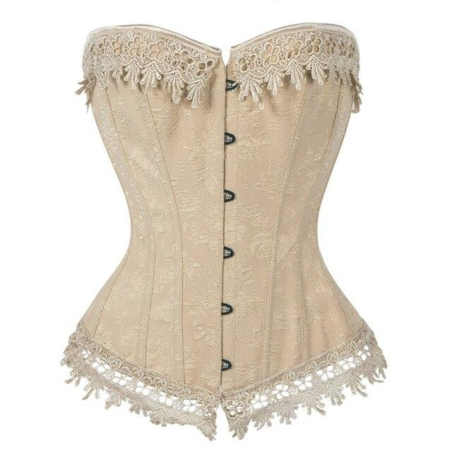 Steampunk Corset Women Sexy Corset Top Bustier Overbust Lace Up Back Lingerie Shapewear Waist Cincher Corsets 6XL Panty Dress
