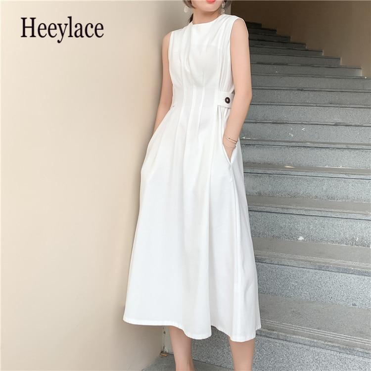 Summer Women Slim Comfortable Fashion Tide Designer Runway Chic Casual White Dress