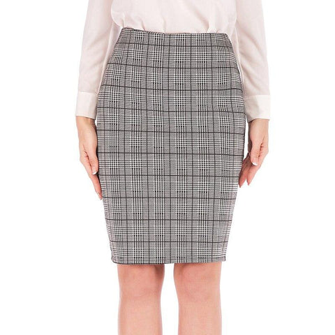 Fashion Women Autumn Pencil Skirt High Waist Plaid Bodycon A Line Vintage Female Skirts Online store for sale