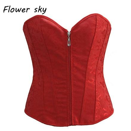 Womens Fashion Waist Trainer Overbust Corset bustier Corset Wedding Waist Corset Sexy Bustiers Top