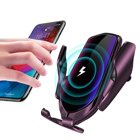 R2 Wireless Mount For Smartphone IR Holder Tensioning Automatic Clamping 360 Degree Rotation Intelligent Accessories Car Charger