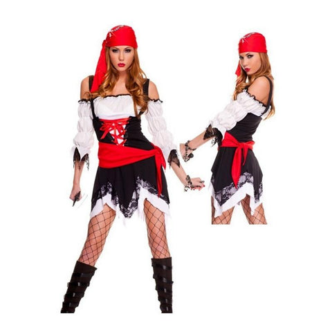 Halloween Adult Women Pirates Skirt Masquerade Fancy Dress Cosplay Pirate Costume Sexy Hot Carnival Cosplay Party Costumes