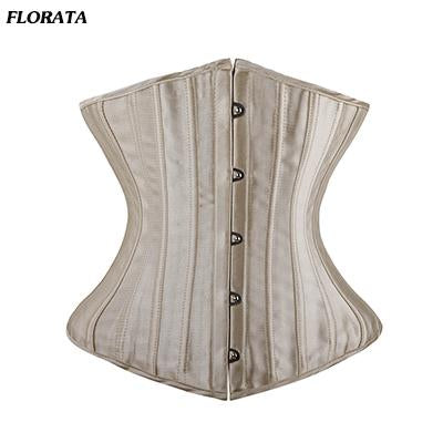 FLORATA Steel Boned Floral Tight Underbust Waist  Corsets TOP Cincher Bustiers Lingerie Lace Up size S-6XL