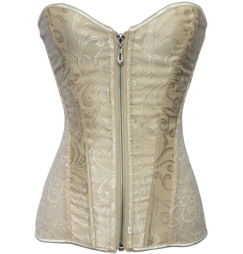 Multi-Color Printing Palace Steel Corset Lace Zipper Tight Body Chest Strap Straps Wrapped Chest