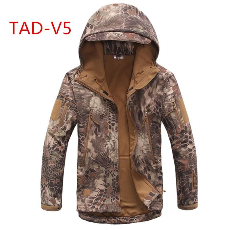 Free shipping 18 High quality Lurker Shark skin Soft Shell TAD V 5.0 Military Tactical Jacket Waterproof Windproof Army bomber jacket Clothing