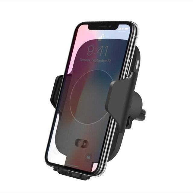 DCAE QI Fast Wireless Car Charger 10W Automatic Infrared Sensor Air Vent Car Phone Holder for iPhone 8 X XS Max XR Samsung S9 S8
