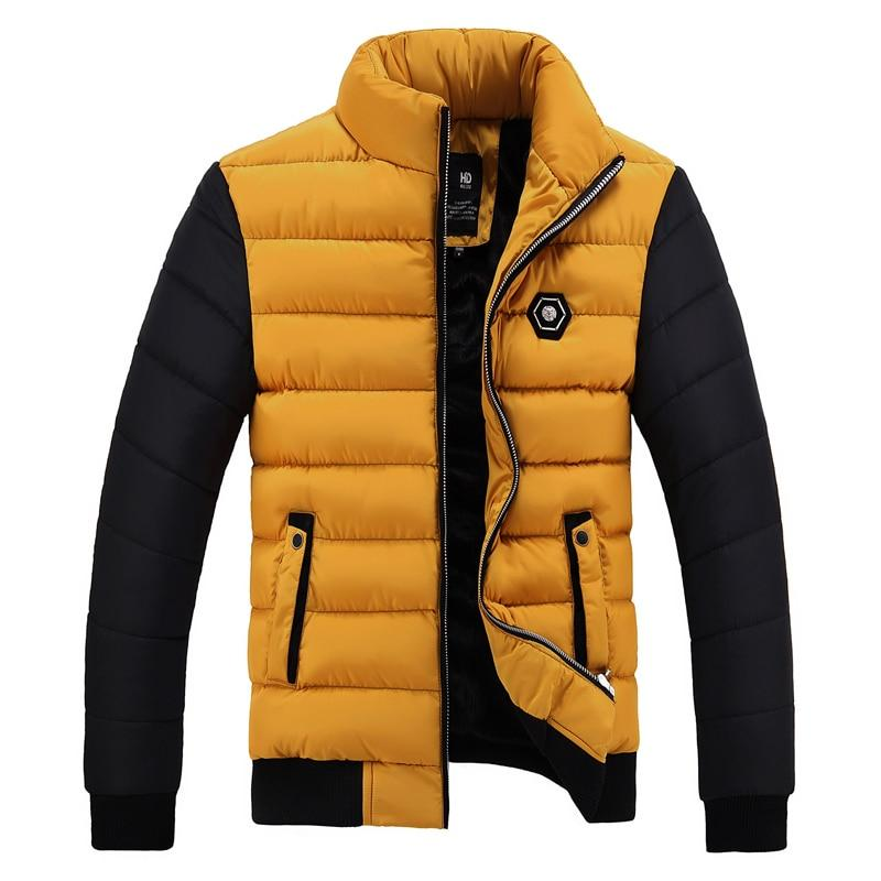 Free shipping New Snow Winter Coat Men Cotton Thickening Cold Stand Collar Fleece Warm Parkas Jacket Men's Casual Hot Overcoat Man