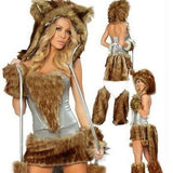 New Sexy Furry Wolf Girl Costume wolf women Costumes Halloween Furry Costumes for women Animal Costume Cosplay