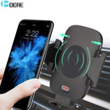 DCAE Automatic Infrared Sensor Car Stand Holder QI Fast Wireless Charger For iphone XS MAX XR X 8 Plus For Samsung S8 S9 Note 9