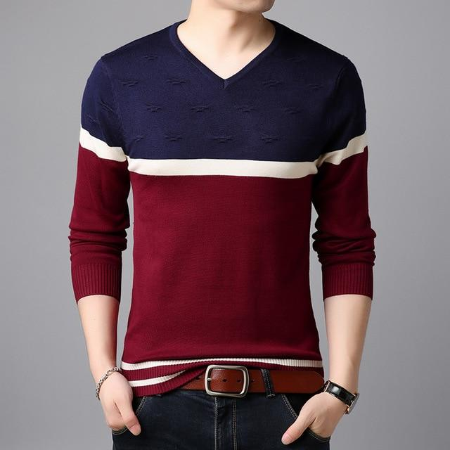 Free shipping Fashion Brand Sweater  Man Pullovers Warm Slim Fit Jumpers Knitwear Woolen Autumn Korean Style Casual Men's Clothes