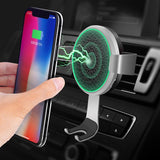 10W Car Qi Wireless Charger For Iphone 8 X XS MAX Air Vent Phone Holder Fast Wireless Charging Charger For Samsung