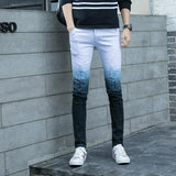 Free shipping New Men Jeans Men's Slim Fit Pants Classic Jeans Male Denim Trousers Casual Skinny Straight Elasticity Pants Embroidery Men Jeans