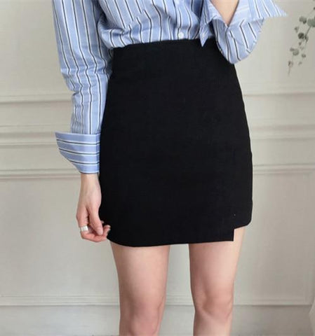 NEW  Fashion Summer Women Skirt solid black Sexy High Waist A-line OL office lady Casual Mini Skirts