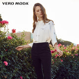 Vero Moda Women's Floral Embroidery 3/4 Batwing Sleeves Blouse Shirt Online store for sale