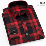 Free shipping Aoliwen Men's Plaid Flannel Shirts Long Sleeve Casual Button Down Slim Fit Outfit for Camp Hanging Out or Work casual shirt