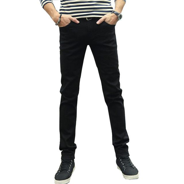 Free shipping KSTUN Jeans Men Stretch Solid Black Skinny Slim fit Spring and Summer Casual Pants Denim Male Trousers Cowboys Jeans Hombre