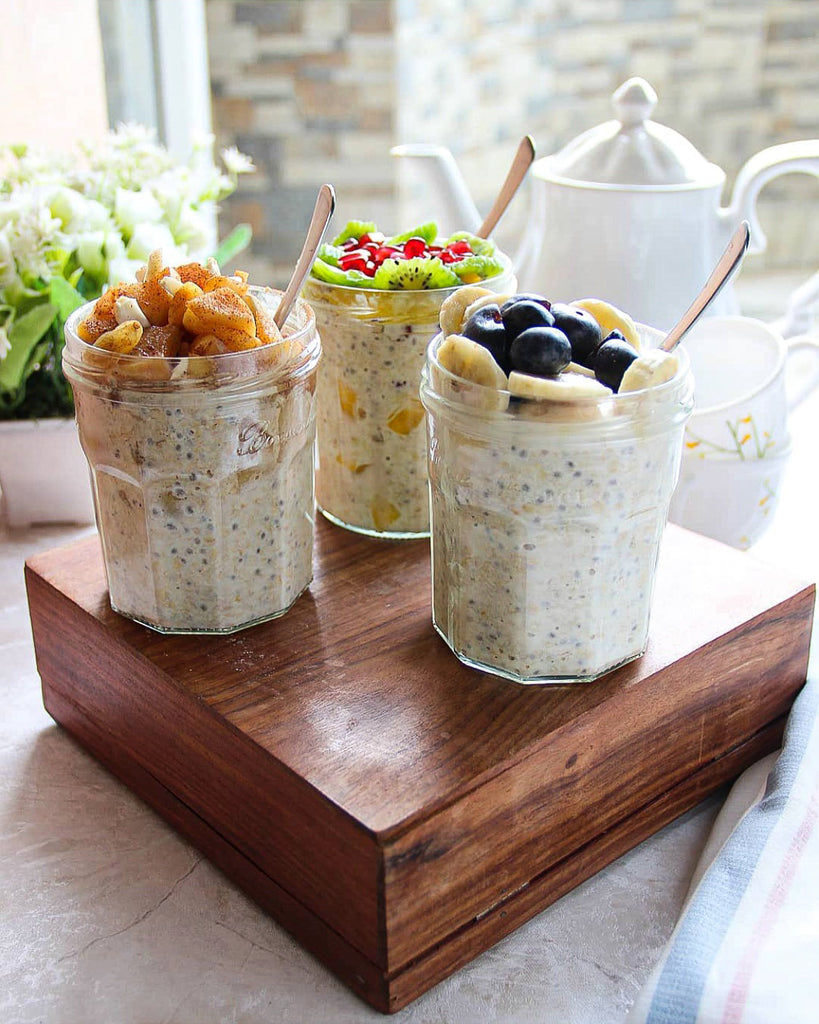 [RECIPES] Banana Blueberry/ Tropical/ Apple Crumble OVERNIGHT OATS