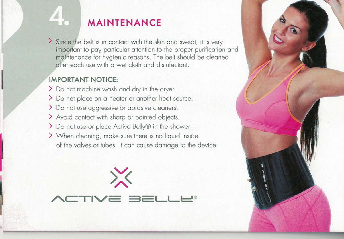 Active Belly Professional Fat Burning System Set Fast Weight Loss Belt Slimming Belt Premium Stomach Fat Burner Wrap And Waist Trainer