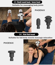 Cargar imagen en el visor de la galería, PHOENIX Massage gun Pro fitness vibration massage machine Body  Deep Muscle Massager Fascia Physiotherapy Massage
