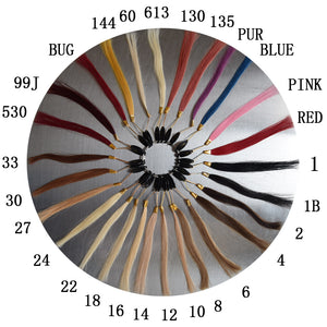 Universal wig color sampling ring 32-color hair color ring