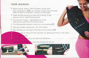 Active belly  professional Fat Burning System Set fast weight loss belt/ Slimming belt -Premium Stomach Fat Burner Wrap and Waist Trainer