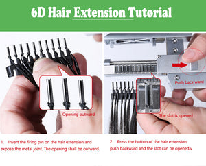 2nd Generation 6D hair extension machine/ human hair extension tools/ wig connector Easy to use fast Hair extension
