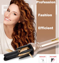 Load image into Gallery viewer, Automatic Hair Curler Ceramic Auto Curling Iron Wand Professional  Instant Heating Easy & Fast Styling Tools,