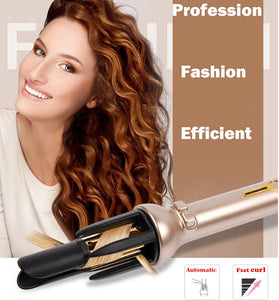 Automatic Hair Curler Ceramic Auto Curling Iron Wand Professional  Instant Heating Easy & Fast Styling Tools,