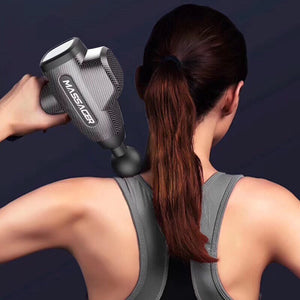 Pro Muscle Massage Gun, Handheld Deep Tissue Massager electric Quiet Portable Massaging Gun 20 Speed Adjustable Professional Percussion Fascia Gun for Sore Muscle and Stiffness