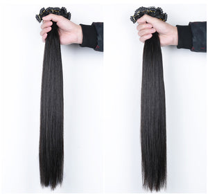 6D hair extension Remy hair 100% high quality human hair