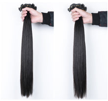 Load image into Gallery viewer, High-end 6D hair extension 6D virgin hair Fast delivery