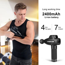 Load image into Gallery viewer, Pro Muscle Massage Gun, Handheld Deep Tissue Massager electric Quiet Portable Massaging Gun 20 Speed Adjustable Professional Percussion Fascia Gun for Sore Muscle and Stiffness