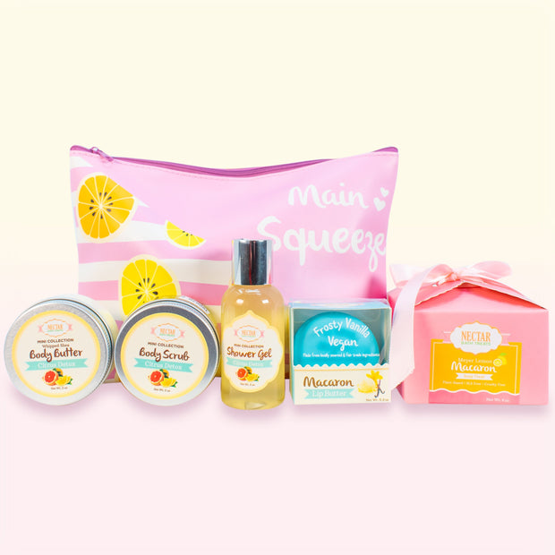 Nectar Bath Treats Citrus Getaway Travel Set Bath and Body Gift Set