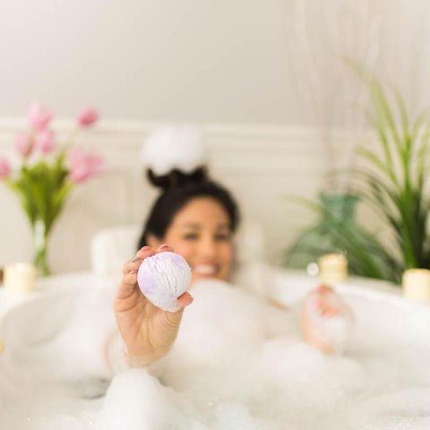 Nectar Bath Treats Lavender Rose Bubble Bath Scoop Sundae Bubble Bath Bar