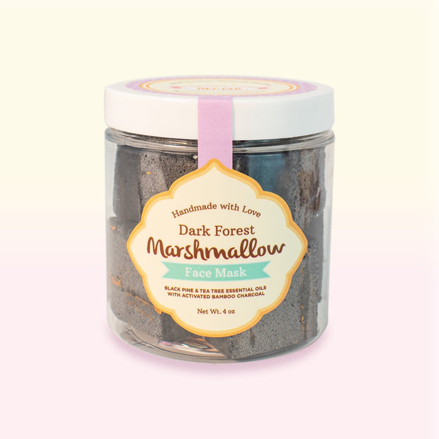 Nectar Bath Treats Marshmallow Face Mask 2-Pack + 2 Free Konjac Sponges Face Mask