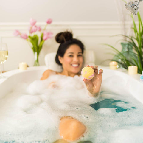 Nectar Bath Treats Peachy Lemon Bubble Bath Scoop Sundae Bubble Bath Bar