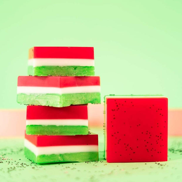 Nectar Bath Treats Watermelon Splash Bar Soap Handmade Donut Soap