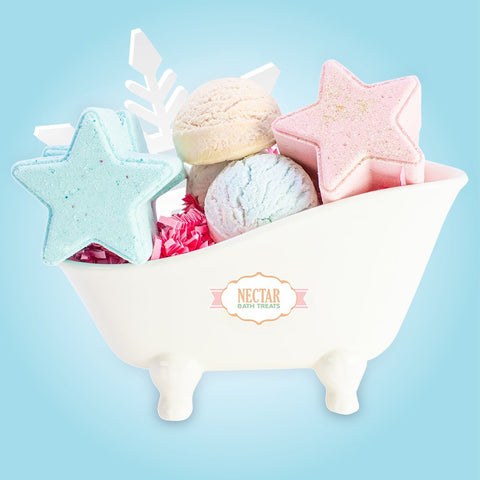 Nectar Bath Treats Winter Bubbly Gift Set Bath and Body Gift Set