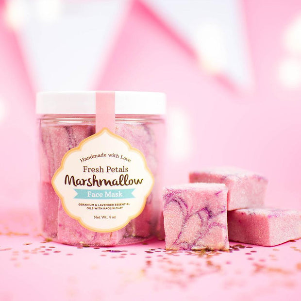 nectarbathtreatsusa Fresh Petals Marshmallow Face Mask
