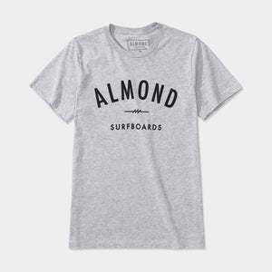 Almond Surfboards Fine Surfing Boards Heather Grey Tee