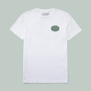 Almond Surfboards Gravel Tee - White