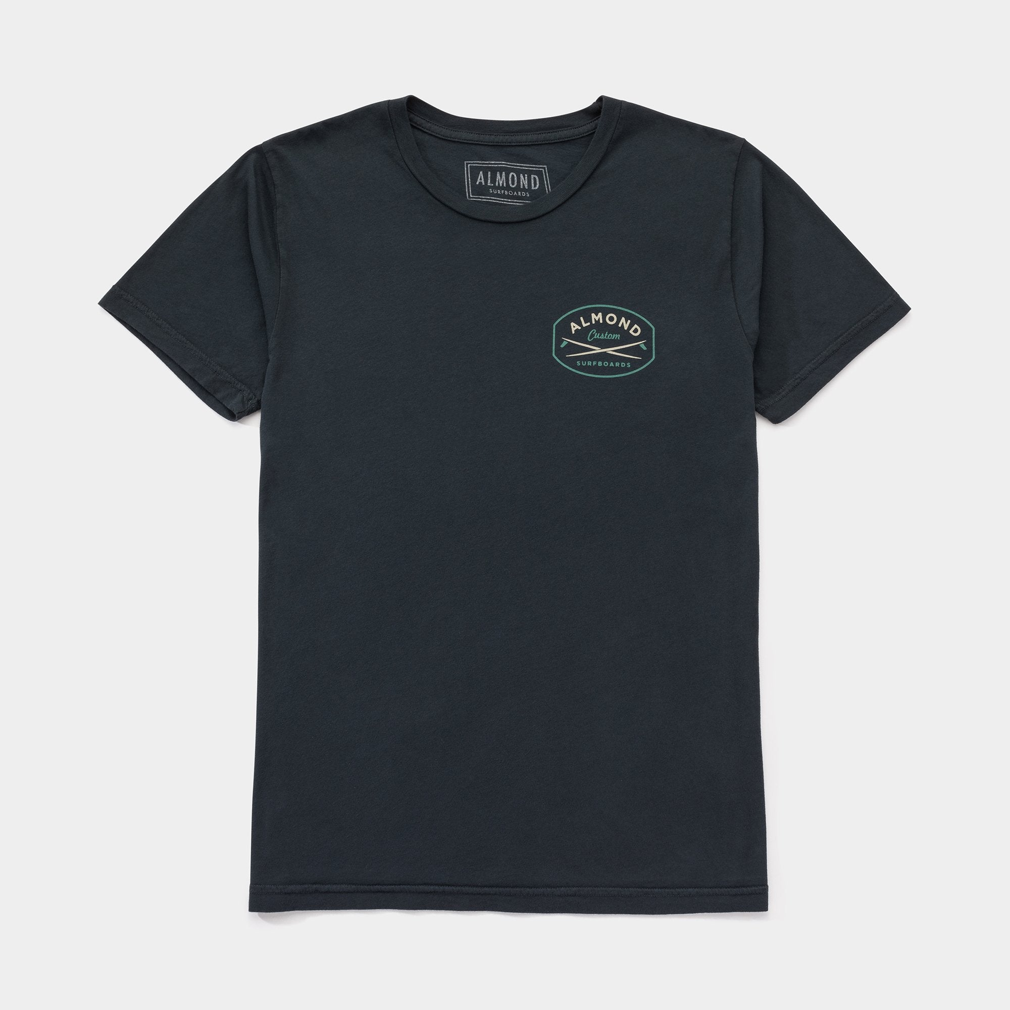 Almond Surfboards Gravel Tee - Vintage Black