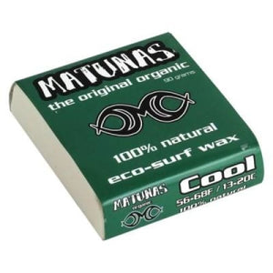3 x Matunas Eco-Surfboard Wax Cool 13 - 20 deg (Summer)