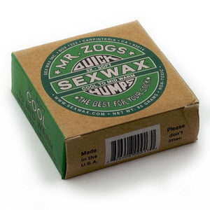 3 x SEX WAX QUICK HUMPS Green X3 COOL to MID-WARM 14 - 23 deg