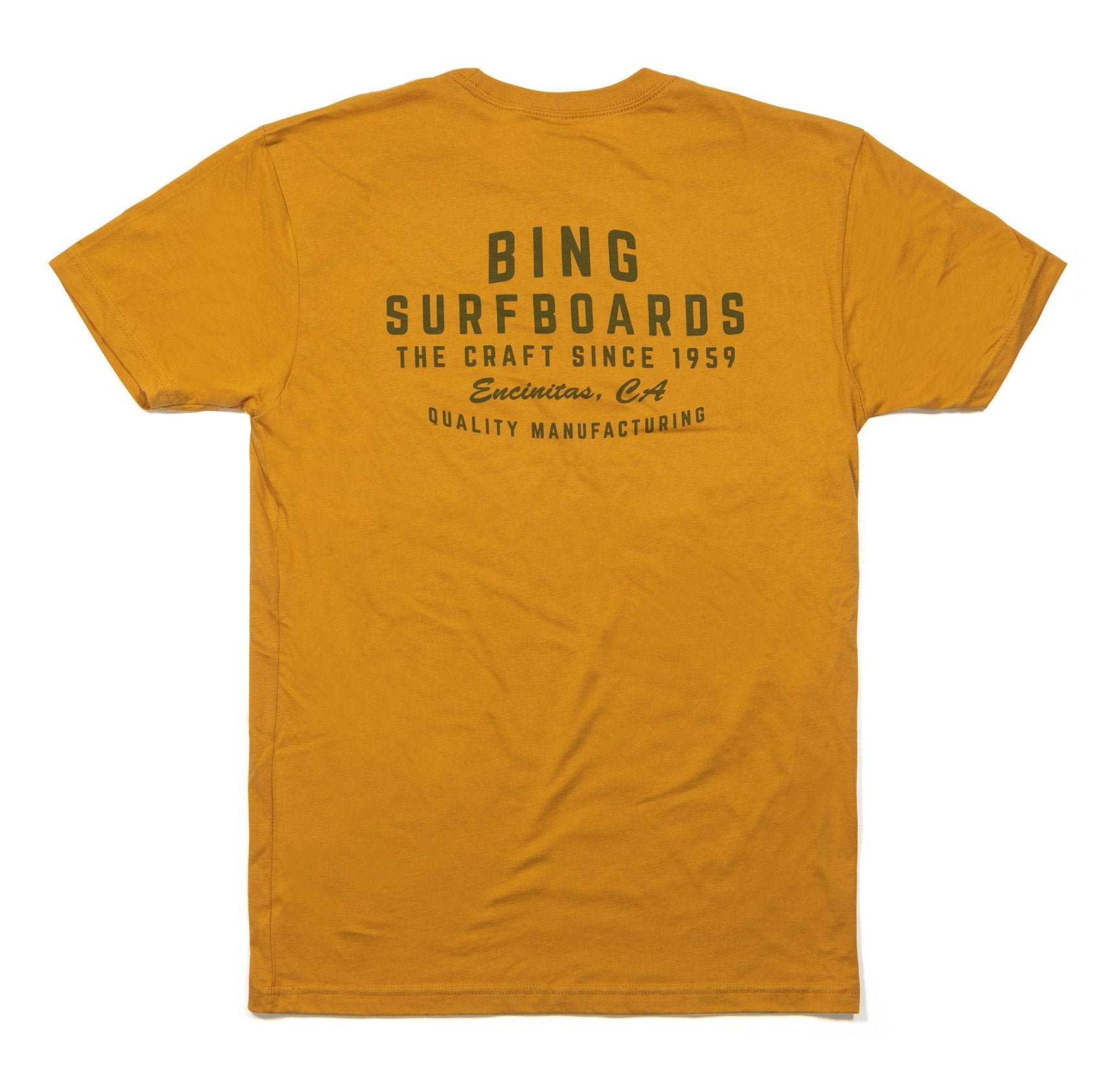 Bing Quality Manufacturing Premium S/S T-Shirt Antique Gold