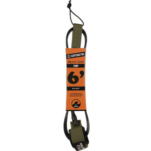 Captain Fin Co Shred Cord Comp 6' - Army Green