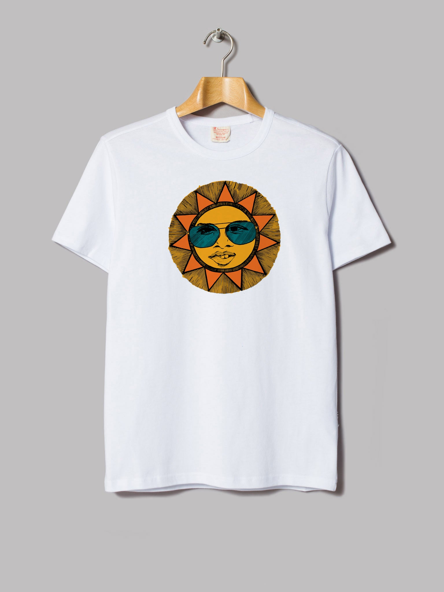 "Dharma Collective - ""Sun Dude"" Premium T-Shirt White"